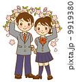 制服 入学 学生のイラスト 9919380