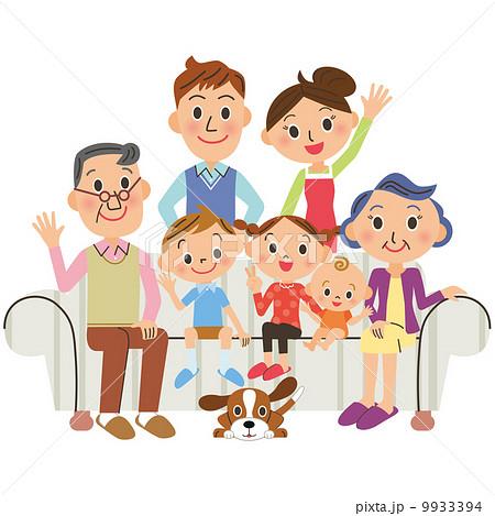 家族 リビング 三世代 9933394