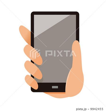 スマホを持つ手のイラスト素材 9942455 Pixta