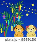 ベクター 犬 七夕のイラスト 9969130