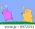 Cartoon animals playing badminton 9972032