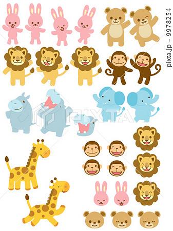 子供向け動物イラストのイラスト素材 9978254 Pixta