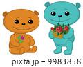 花 動物 テディベアのイラスト 9983858