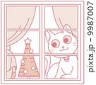 ベクター クリスマス 猫のイラスト 9987007