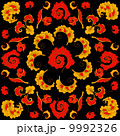 Abstract Hand-Drawn Floral Pattern 9992326