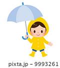 雨具 ベクター 男の子のイラスト 9993261