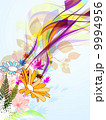 花 カラフル 色とりどりのイラスト 9994956