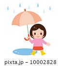 雨具 ベクター 子供のイラスト 10002828