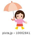 雨具 ベクター 女の子のイラスト 10002841