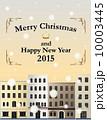 アパート マンション クリスマスのイラスト 10003445