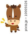 ワンポイント ベクター 馬のイラスト 10005026