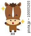 飛び跳ねる ベクター 馬のイラスト 10005205