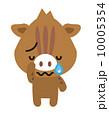ベクター イノシシ 泣くのイラスト 10005354
