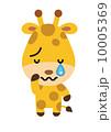 ベクター キリン 泣くのイラスト 10005369