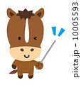 ウインク ベクター 馬のイラスト 10005593