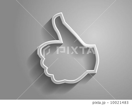 3d Vector illustration of like icon 10021483