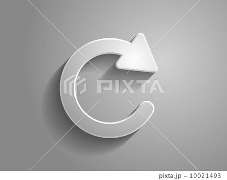 3d Vector icon of reload button 10021493