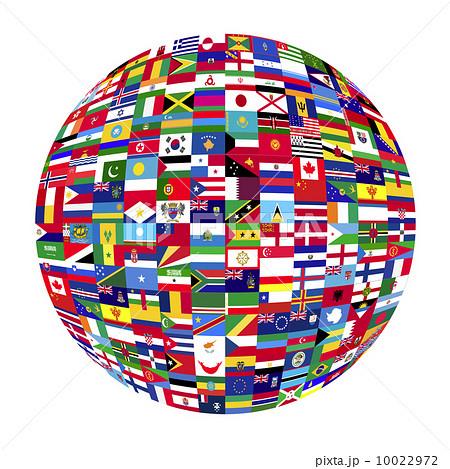 世界 地球 国旗のイラスト素材 ... : 世界の国旗 イラスト : イラスト