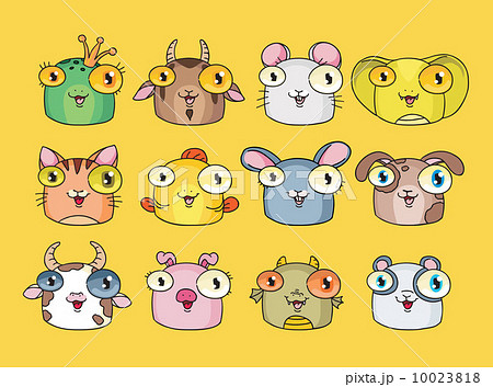 Vector illustration of cute animal set 10023818