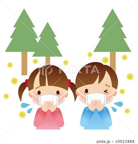 マスクをする子供 花粉症 10023888