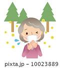 人物 女性 花粉症のイラスト 10023889
