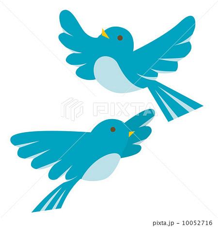 青い鳥のイラスト素材 10052716 Pixta