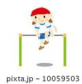 鉄棒 女の子 子供のイラスト 10059503