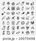 アイコン ガーデン 花のイラスト 10070498