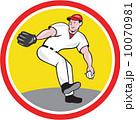 ピッチャー 投手 ピッチングのイラスト 10070981