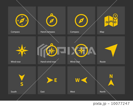 Compass icons. 10077247