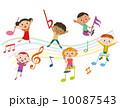 音符と子供集合 10087543
