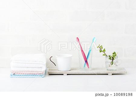 歯ブラシ ペア タオルの写真素材 [10089198] - PIXTA