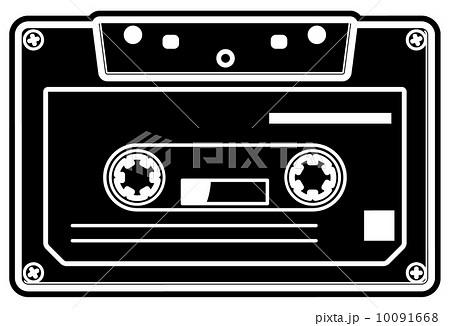 カセットテープのイラスト素材 10091668 Pixta