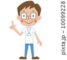 指差す ベクター クールビズのイラスト 10099228