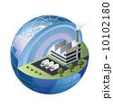 ベクトル 工場 製造所のイラスト 10102180