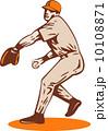 ピッチャー 投手 ピッチングのイラスト 10108871