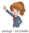 女の子/指差し 10114084