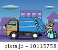 街のゴミ収集車の仕事 10115758