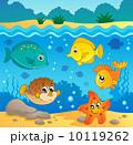 Underwater ocean fauna theme 4 10119262