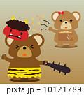 カレンダー用イラスト素材 2月 熊 正方形 10121789