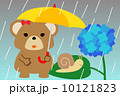 熊 ベクター 梅雨のイラスト 10121823