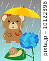 熊 ベクター 梅雨のイラスト 10122396