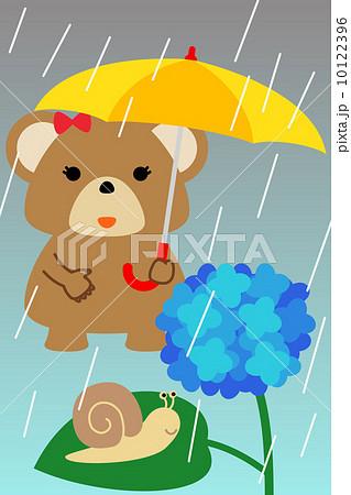 カレンダー用イラスト素材 6月 熊 縦長 10122396