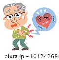 心臓病 発作 シニアのイラスト 10124268