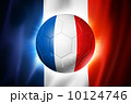 Soccer football ball with France flag 10124746