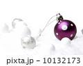 クリスマス 銀 紫色の写真 10132173