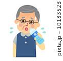 水分補給 高齢者 シニアのイラスト 10133523