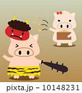 カレンダー用イラスト素材 2月 豚 正方形 10148231