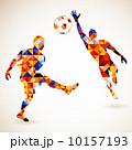 サッカー 人影 影のイラスト 10157193