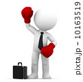 Businessman with boxing gloves Conceptual business illustration 10163519